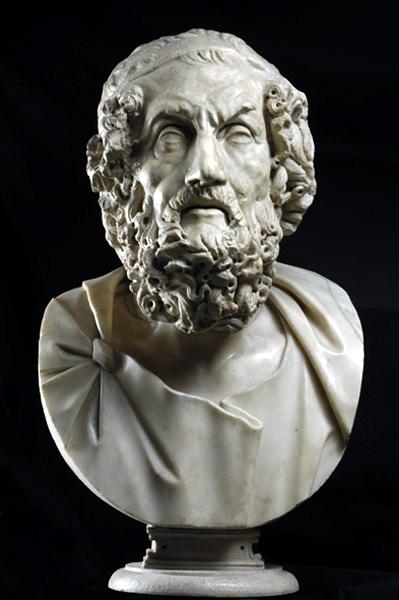 """La Vecchiaia nell'Arte - """"Sala dei Filosofi"""", Roma, Musei Capitolini (copie da originali greci), Ritratto di Omero"""