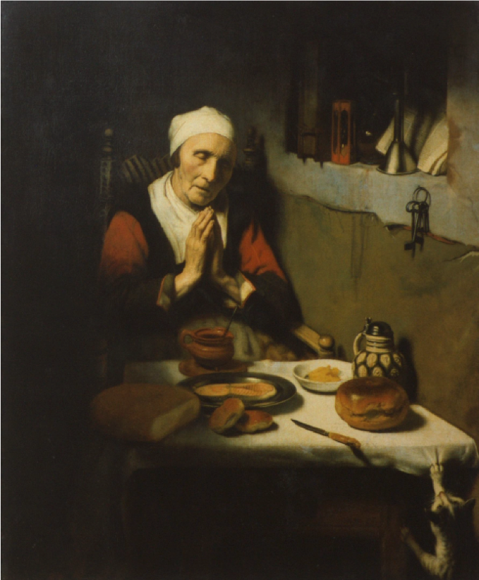 """Vecchiaia nell'Arte - N. Maes, """"Donna anziana in preghiera"""", 1656, Amsterdam, Rijksmuseum"""
