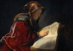 """L Vacchiaia nell'Arte - Rembrandt, """"La profetessa Anna"""", 1631, Amsterdam, Rijksmuseum"""