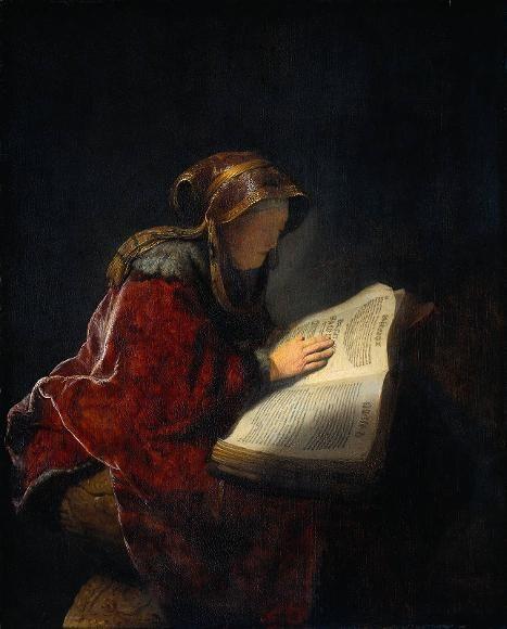 """Vecchiaia nell'Arte - Rembrandt, """"La profetessa Anna"""", 1631, Amsterdam, Rijksmuseum"""
