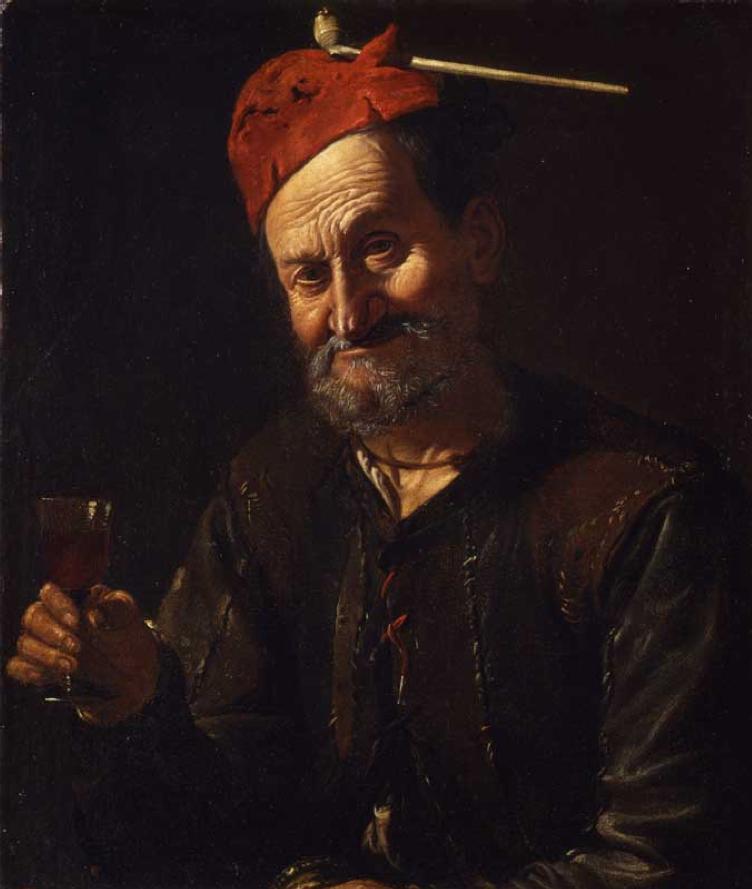 """Vecchiaia nell'Arte - P. Bellotto, """"Vecchio bevitore"""", 1674, Milano, Pinacoteca del Castello Sforzesco"""