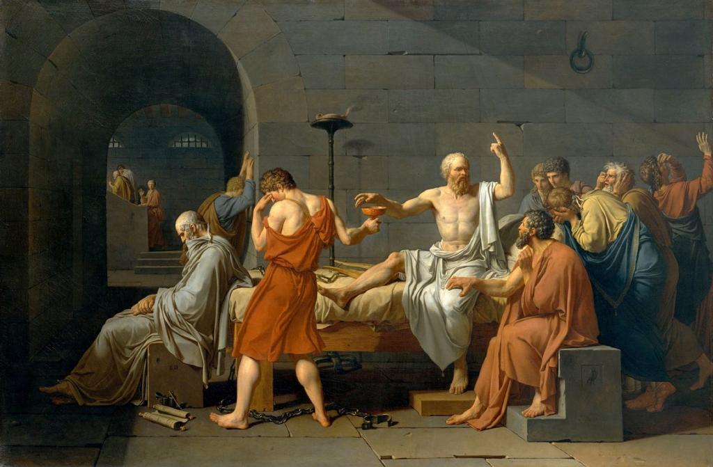 """Vecchiaia nell'Arte - J. L. David, """"Morte di Socrate"""", 1787, New York, Metropolitan Museum of Art"""