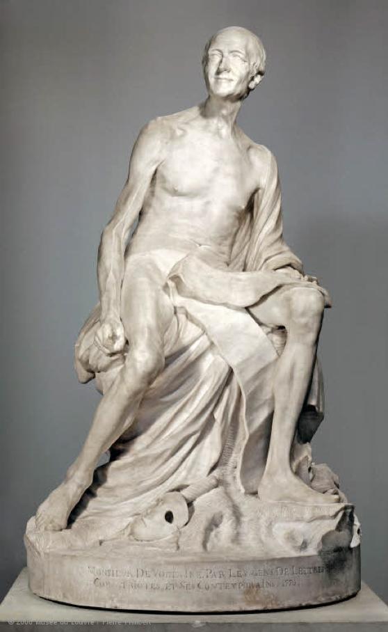 """Vecchiaia nell'Arte - J. B. Pigalle, """"Voltaire nudo"""", 1776, Parigi, Musée du Louvre"""