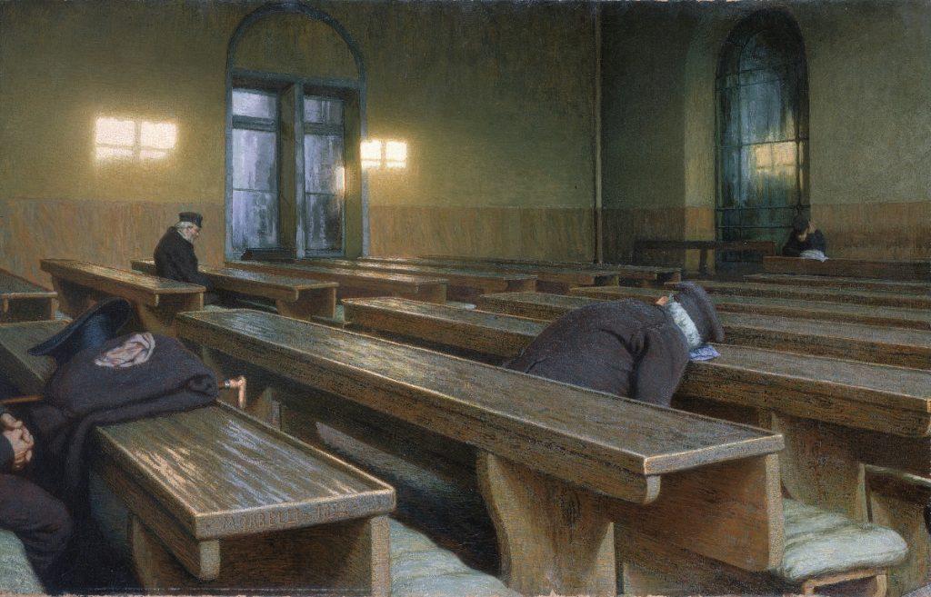 """Vecchiaia nell'Arte - A. Morbelli, """"Un Natale al Pio Albergo Trivulzio"""", 1892, Parigi, Musée d'Orsay"""