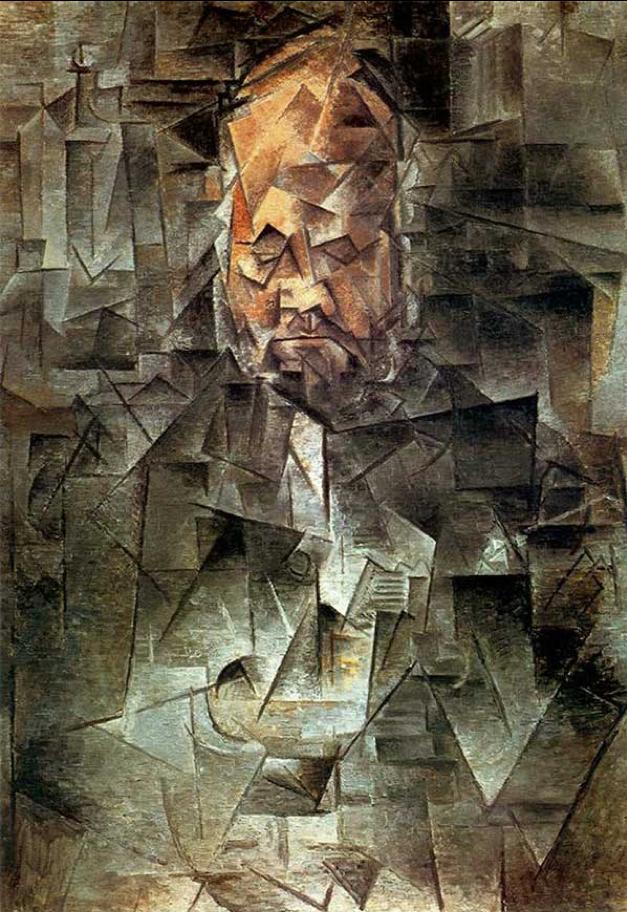 """Vecchiaia nell'Arte - Picasso, """"Ritratto di Ambroise Vollard"""", 1909-10, Mosca, Museo Puškin"""