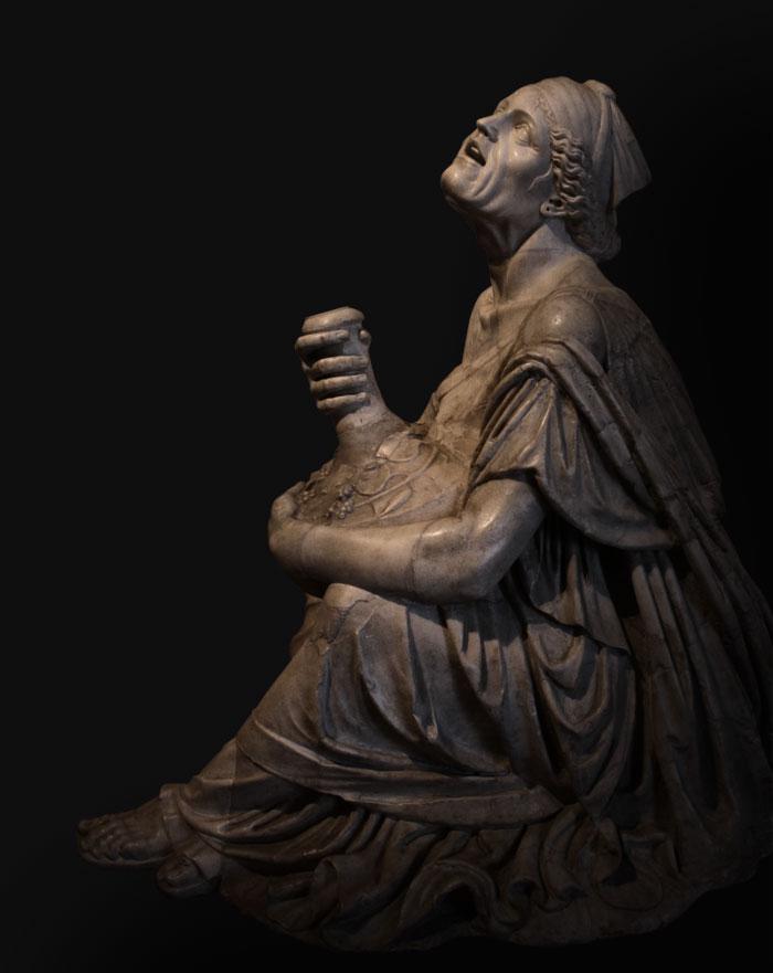 """La Vecchiaia nell'Arte - """"Vecchia ebbra"""", copia romana da scultura del 300 a.C., Roma, Musei Capitolini"""