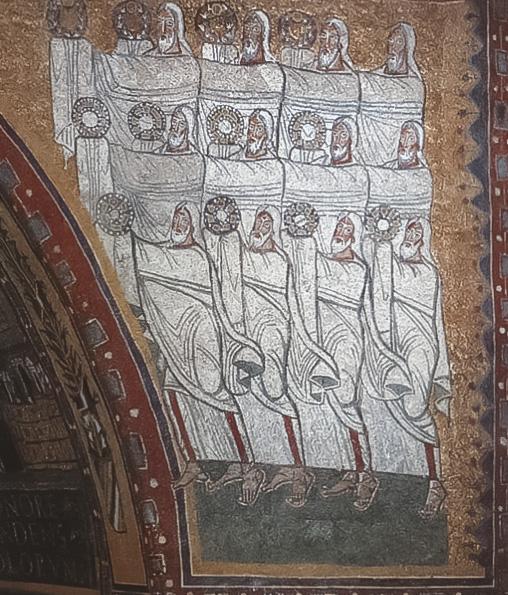 """Vecchiaia nell'Arte - """"Vegliardi dell'Apocalisse"""", IX sec, Roma, Santa Prassede"""
