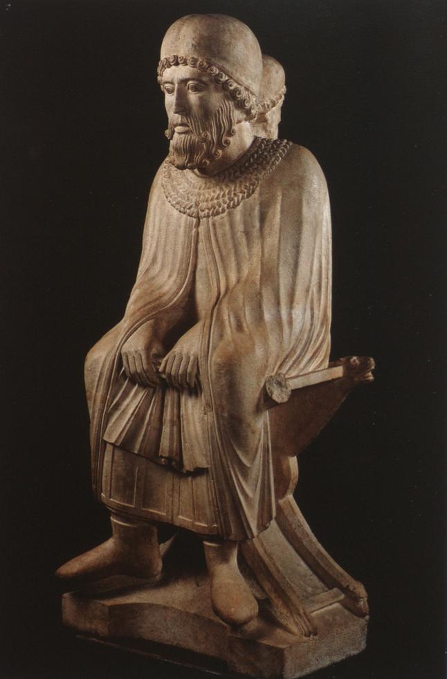 """Vecchiaia nell'Arte - B. Antelami, """"Mese di Gennaio"""", 1178 – 1233, Battistero di Parma"""