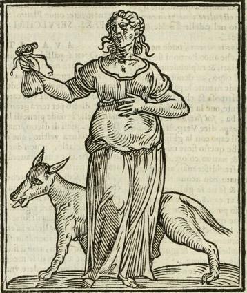 "Vecchiaia nell'Arte - C. Ripa, ""L'Avarizia"", 1593"