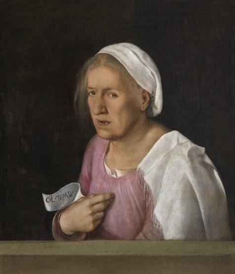"""La Vecchiaia nell'Arte - Giorgione, """"Vecchia"""", 1506, Venezia, Gallerie dell'Accademia"""