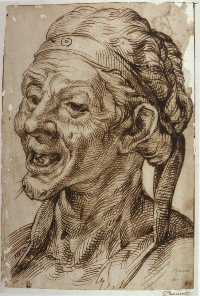 """Vecchiaia nell'Arte - B. Passarotti, """"Testa grottesca di vecchia"""", 1570, Staatliche Museen zu Berlin"""