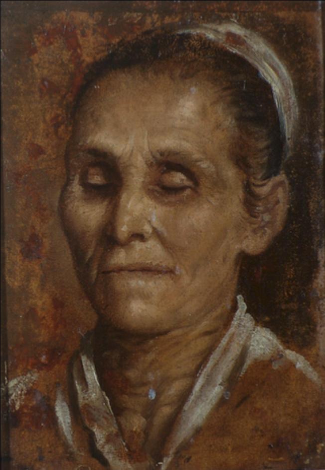 """Vecchiaia nell'Arte - A. Carracci, """"Testa di vecchia cieca"""", 1590, Collezioni d'Arte e Storia della Fondazione Cassa di Risparmio, Bologna"""