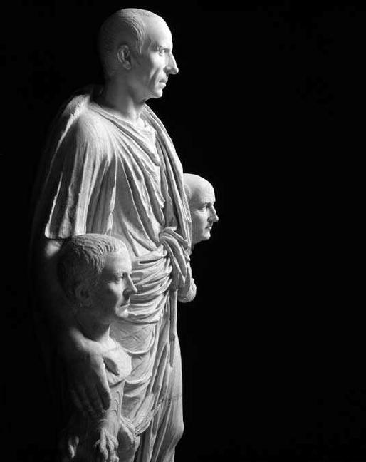 """Vecchiaia nell'Arte - """"Togato Barberini"""", I secolo a.C., Roma, Musei Capitolini"""